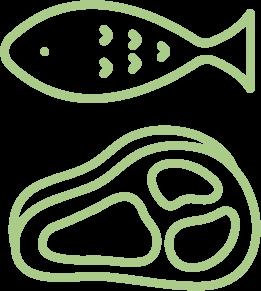 1.安心・安全の食材提供のイメージ(イラスト)